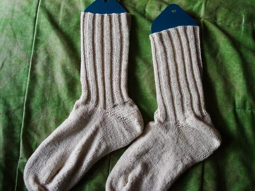 FO: My first toe-up socks