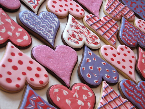 Big Valentine Heart Cookies