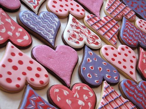 Big Valentine Heart Cookies