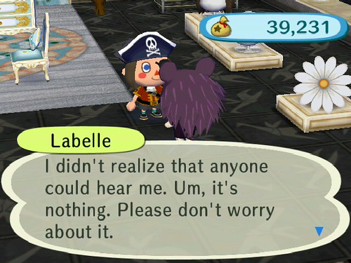 Come on Labelle, tell me whats going on!