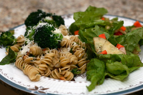 Pasta with Broccoli, Edamame & Walnuts