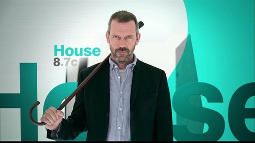 I like his grin here. As I said in one of my past Tweets, House, I am excited to see you hurl insults, demean and irritate the hell out of everyone again! :)