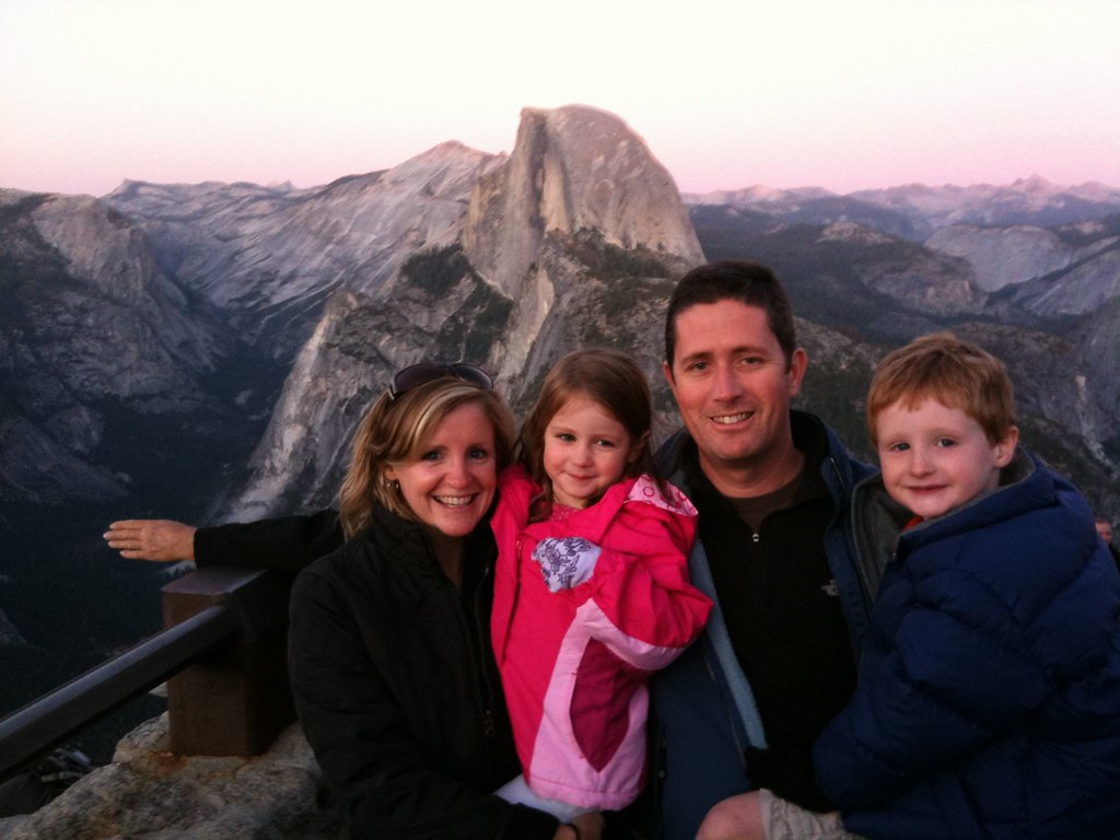 The family and mystery arm at Glacier Point