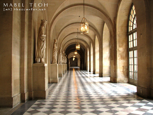 One of the many hallways (this one was cordoned off...hence the lack of people!)