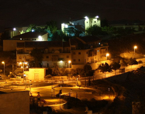 Mitzpeh Nevo Yeshiva at night
