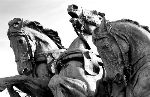 Artillery Group Horses, Grant Memorial, Washington, D.C. (Ilford Pan F Plus. Nikon F100. Epson V500.)