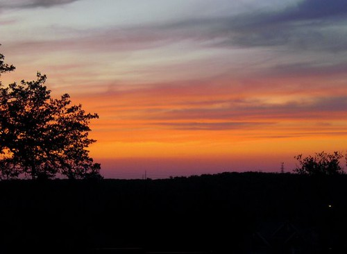 Sunset over Texas hill country