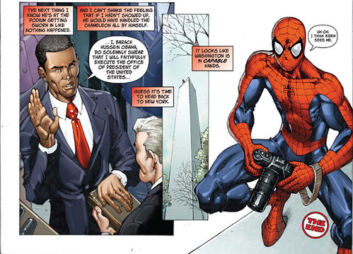 Obama Juramento y Spiderman