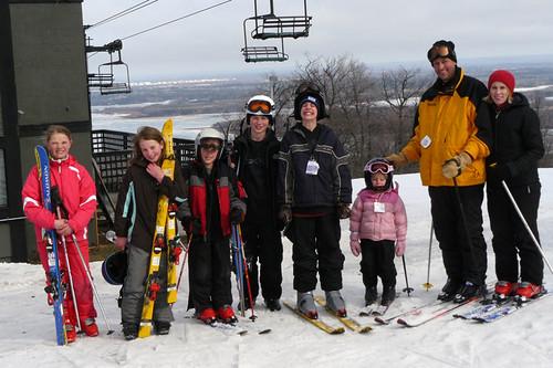 The Whole Ski Group At Spirit Mountain