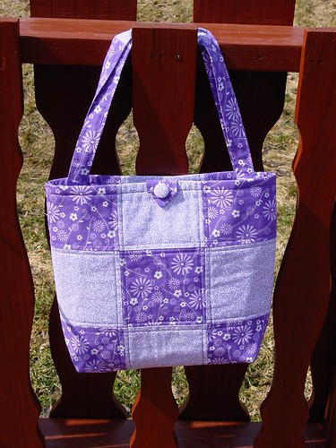 Purple Tote Bag I Made For Gift