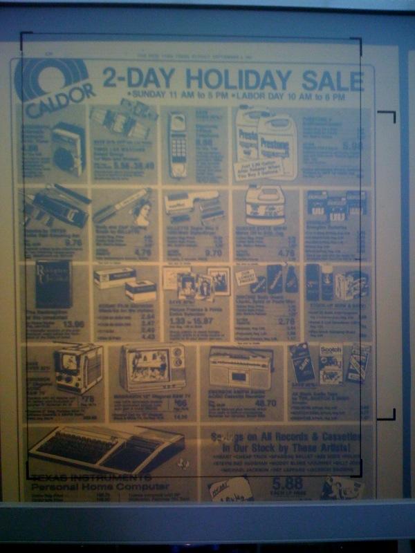 Caldor ad, September 5, 1983