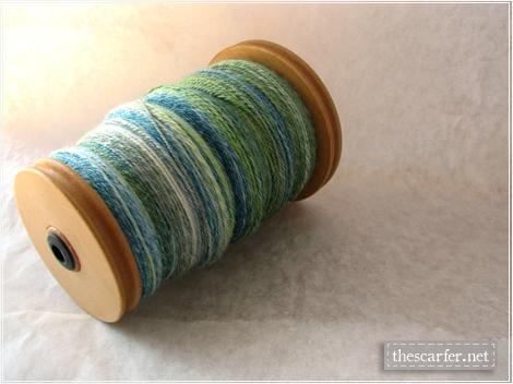 Handspun Merino-Bamboo in Blue Mojito