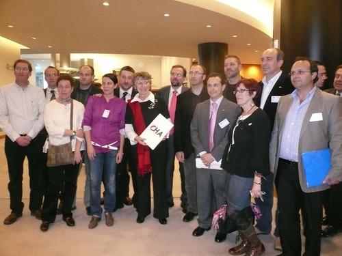 La delegación de CHA con la eurodiputada Margrete Auken