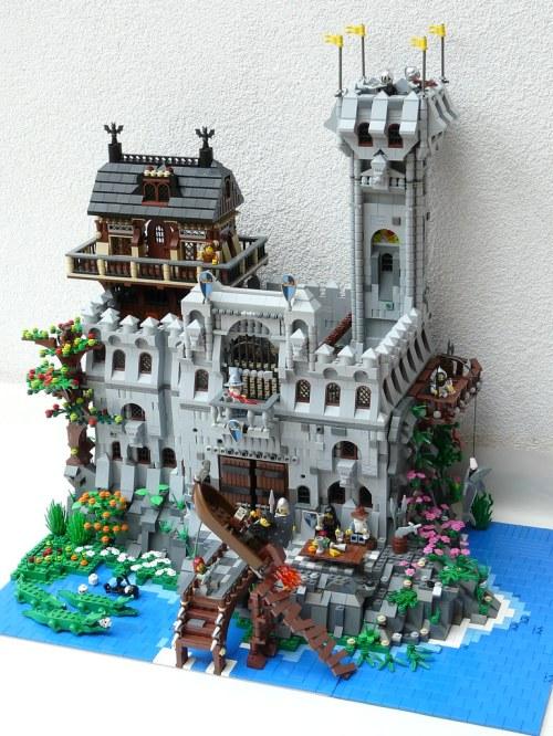 LEGO Medieval Knievel diorama
