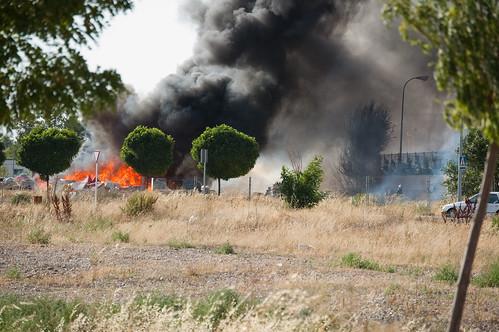 Incendio detrás de la fábrica GAL (III)