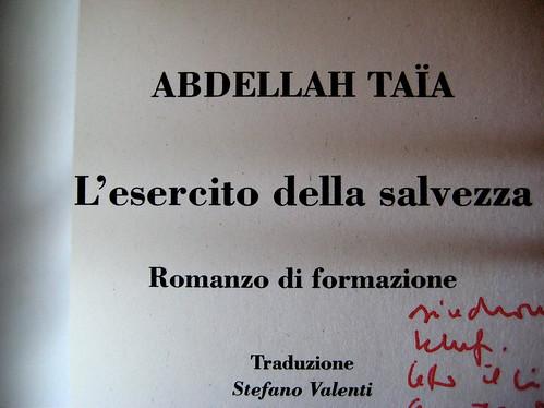 Abdellah Taïa, L'esercito della salvezza, ISBN 2009; Grafica di Alice Beniero, frontespizio (part.)