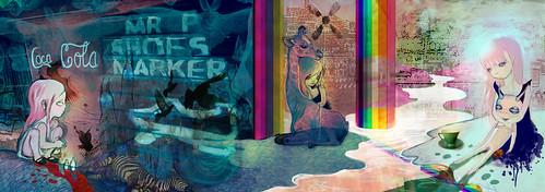 Rainbow Creek - digital collage