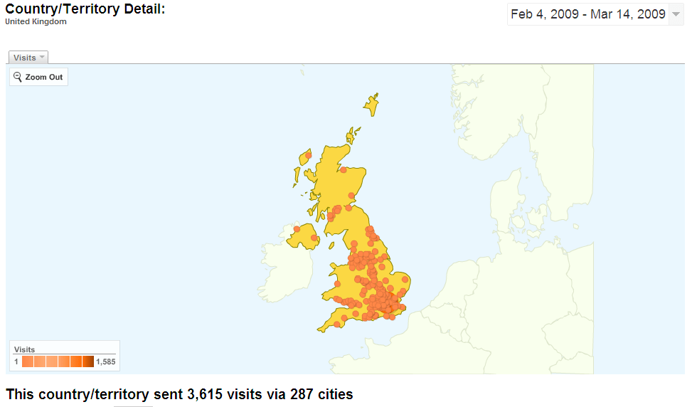 UK geographical coverage