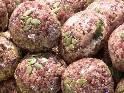 Red rice balls