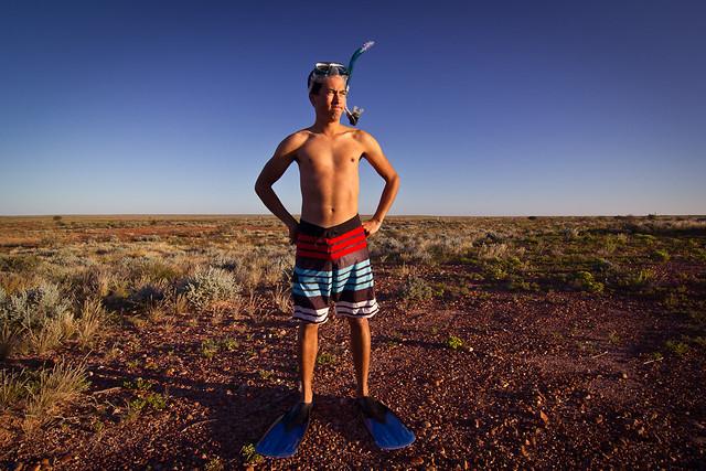 J12 / Auto-portrait : Ca y est, je suis dans l'Outback