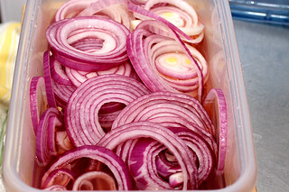 quick-pickled red onions