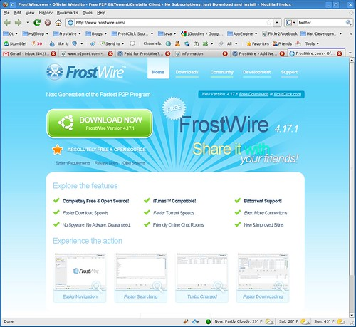 FrostWIre's new Website