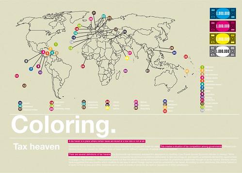Tax heaven / Coloring project / retrofuturs Stéphane Massa-Bidal