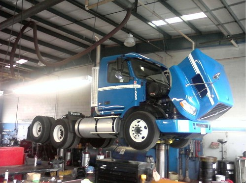 Volvo Truck on a Lift
