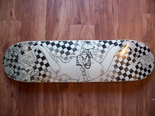 The Serpent skateboard - Jeremy Fish x Mike Giant