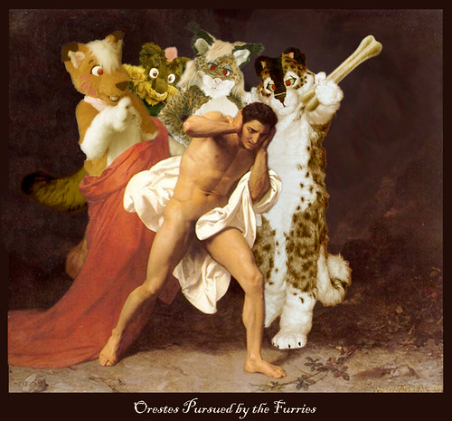 Orestes Pursued By The Furries Boing Boing