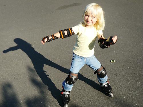 Roller skating is fun