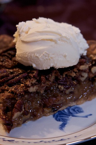 Warm Pecan Pie with French Vanilla Ice Cream