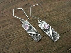 pink cz earrings