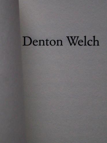 Denton Welch, In gioventù il piacere, Casagrande 2003, frontespizio (part.) 1