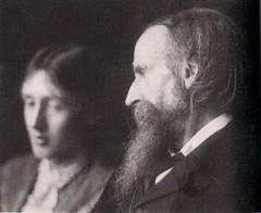 Leslie Stephen and his daughter Virginia Woolf...