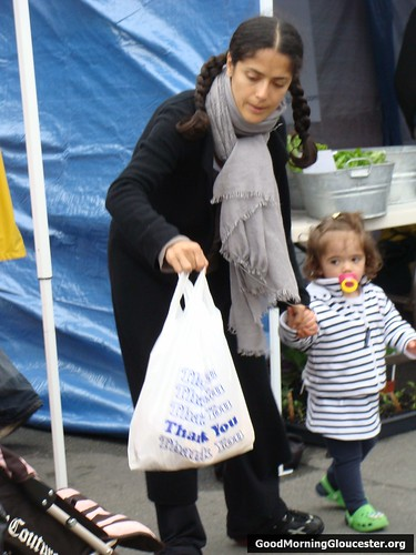Salma Hayek with Daughter Valentina At The Cape Ann Farmers Market