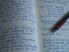 journal, pen