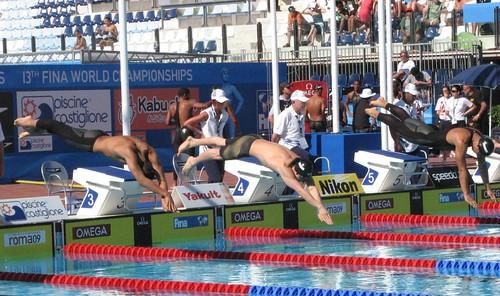 729-劉崑峰(中)100米自由泳出發