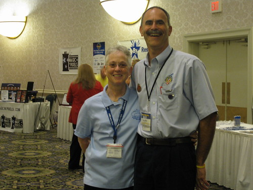 Deb is founder of All Ears.Net and John is founder of The Central Jersey Disney Pin Traders