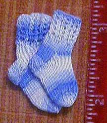 Pair of miniature socks, 2002