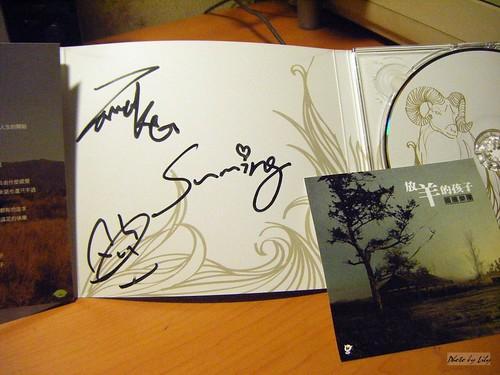圖騰樂團簽名。
