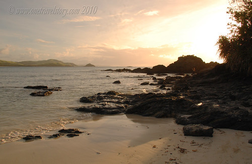 The rocky tip of Mahabang Buhangin, Calaguas Island, Camarines Norte