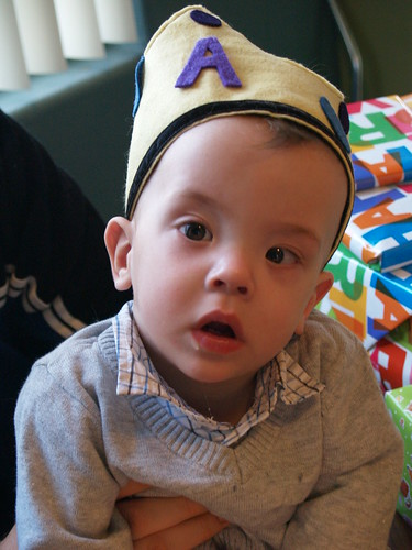 Birthday Boy with Felt Crown