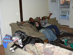 Hunter Street - Jimmie, Khalif, Armani on Couches