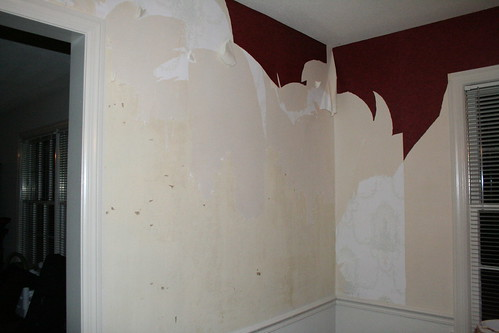 Paper coming down- dining room