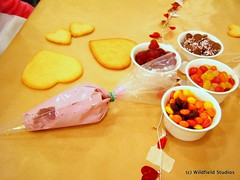 Decorating Valentine Cookies