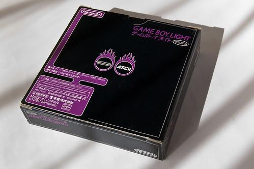 Gameboy Light Skeleton Famitsu edition box (rear)