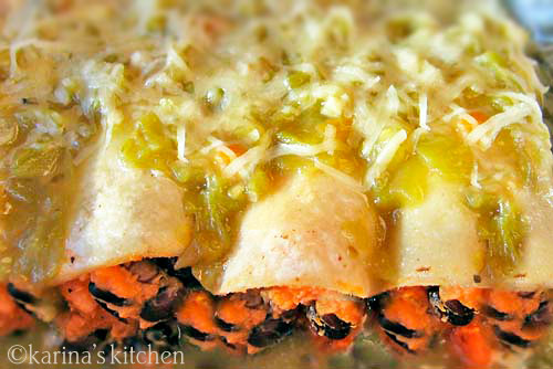 Sweet Potato Black Bean Enchiladas Recipe