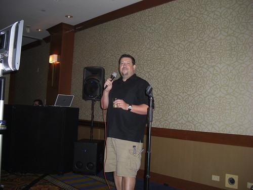 Jim Kukral sings Karaoke at Affiliate Summit East 2009