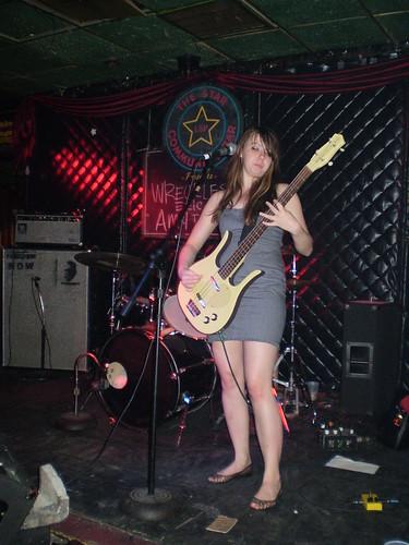 hazel on the bass